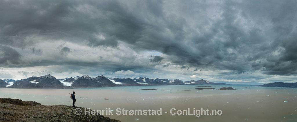 View of Kongsfjorden, Svalbard, Norway 001